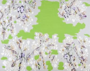 中西 夏之《G/Z 夏至・橋の上 To May VII》1992年 油彩、キャンヴァス 182.0×227.5 cm 名古屋画廊