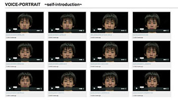 CREAMコンペティション「CREAM賞」受賞作品 松島俊介 《VOICE-PORTRAIT ~self-introduction~》より