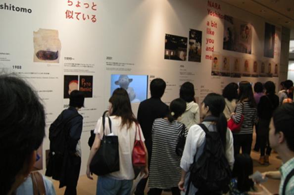 奈良美智展、横浜美術館会場