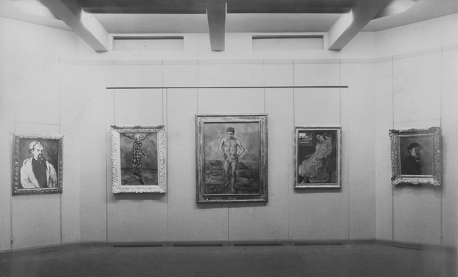 View of MoMA's first exhibition, Cézanne, Gauguin, Seurat, Van Gogh, November 7, 1929–December 7, 1929. The Museum of Modern Art Archives, New York. Photo: Peter Juley