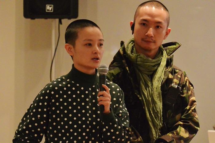 舞台芸術AIRミーティング セッション1「アジアの中の舞台芸術のAIRの状況について」に登場したシャオ・クゥ(左)×チョウ・ツゥ・ハン(右) (2/14@YCC 3F)