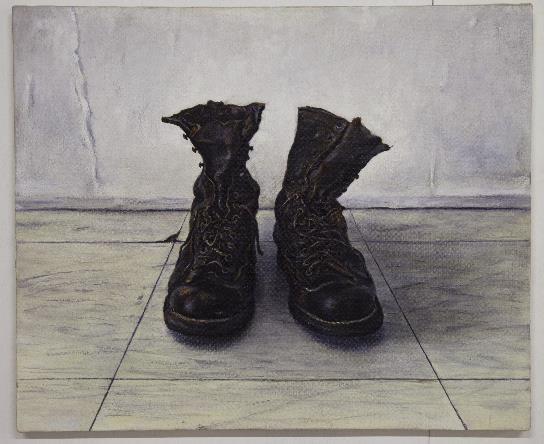 佐々木健、「Boots」2013、油彩・カンバス
