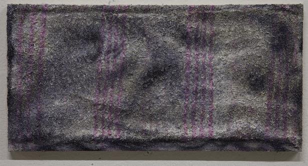 佐々木健、「Floor cloth #pink line」2013、油彩・カンバス