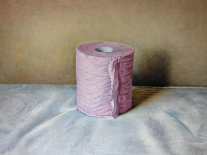 佐々木健、「toilet paper」2013, 油彩・カンバス
