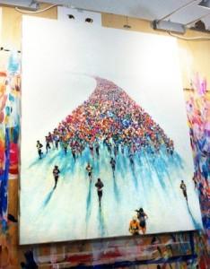 横浜マラソン2015シンボルマークの原画