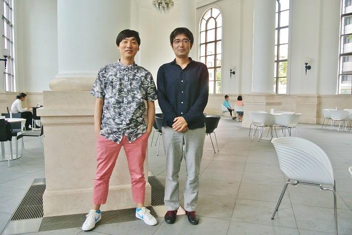 左:山下良平さん(イラストレーター) 右:満島弘さん(デザイナー)