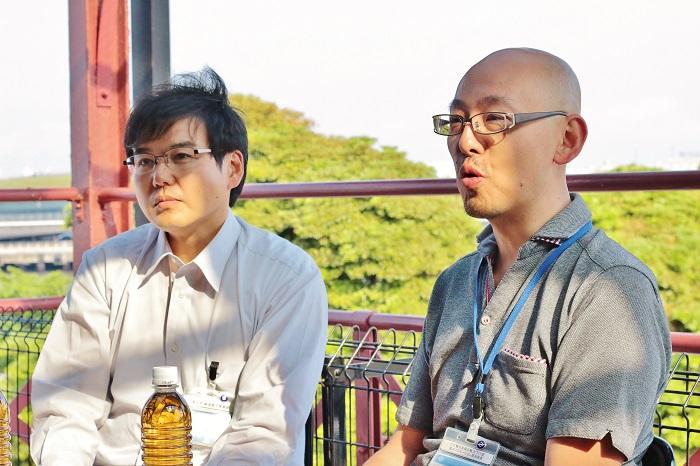左・新谷雄一さん、右・貝田泰史さん