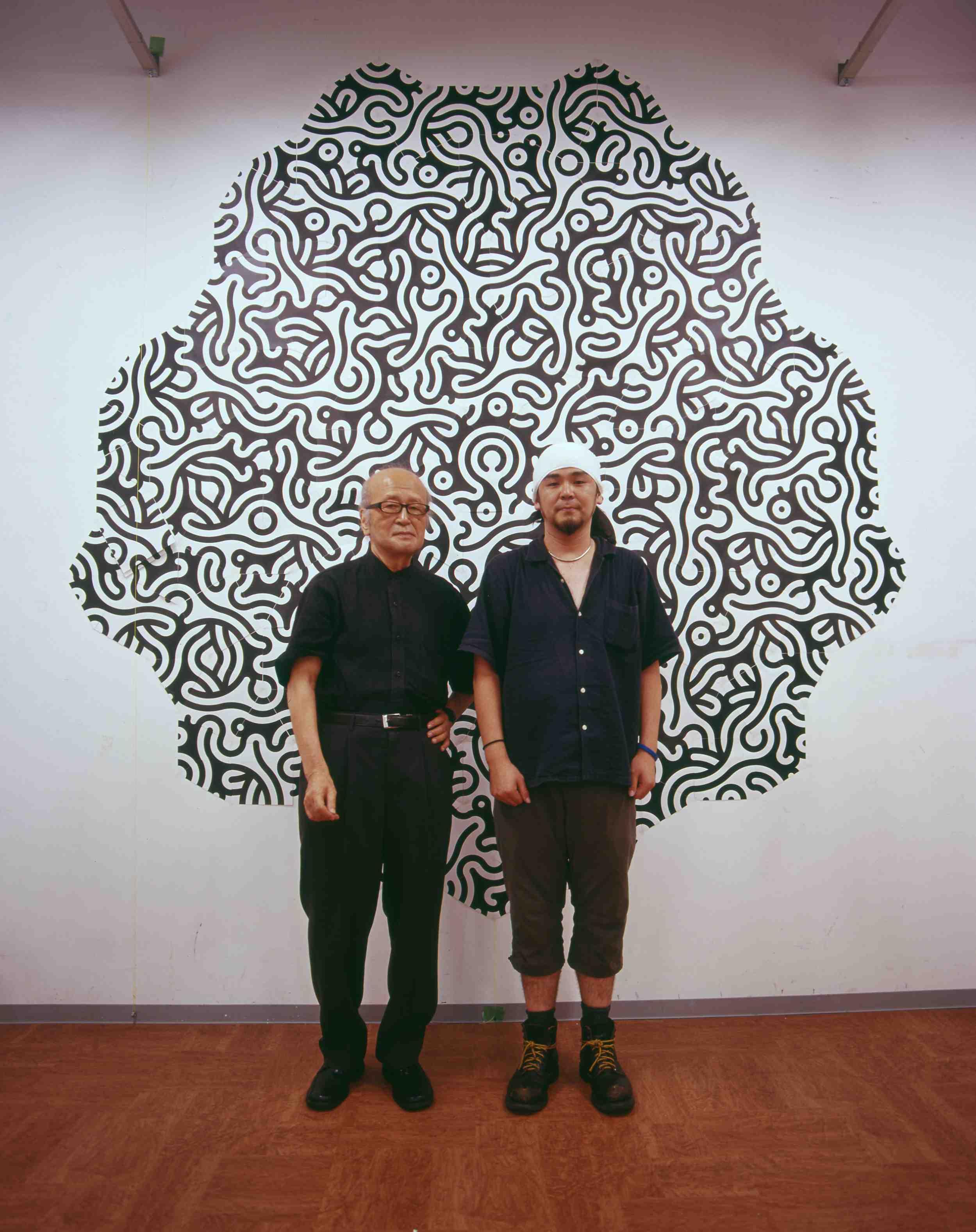 野老正昭さん(父)と(2006年)