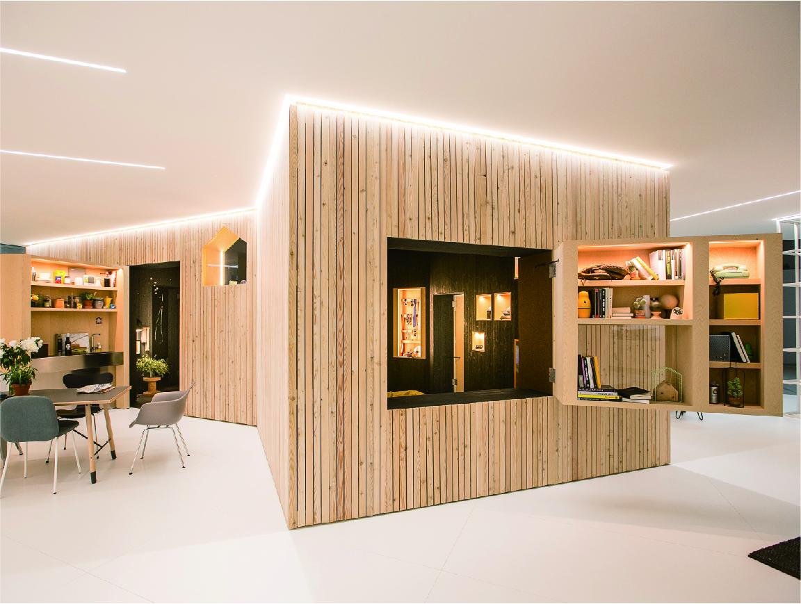 これからの住み方を提案するアイデアが注目されたMINIの展示会場。