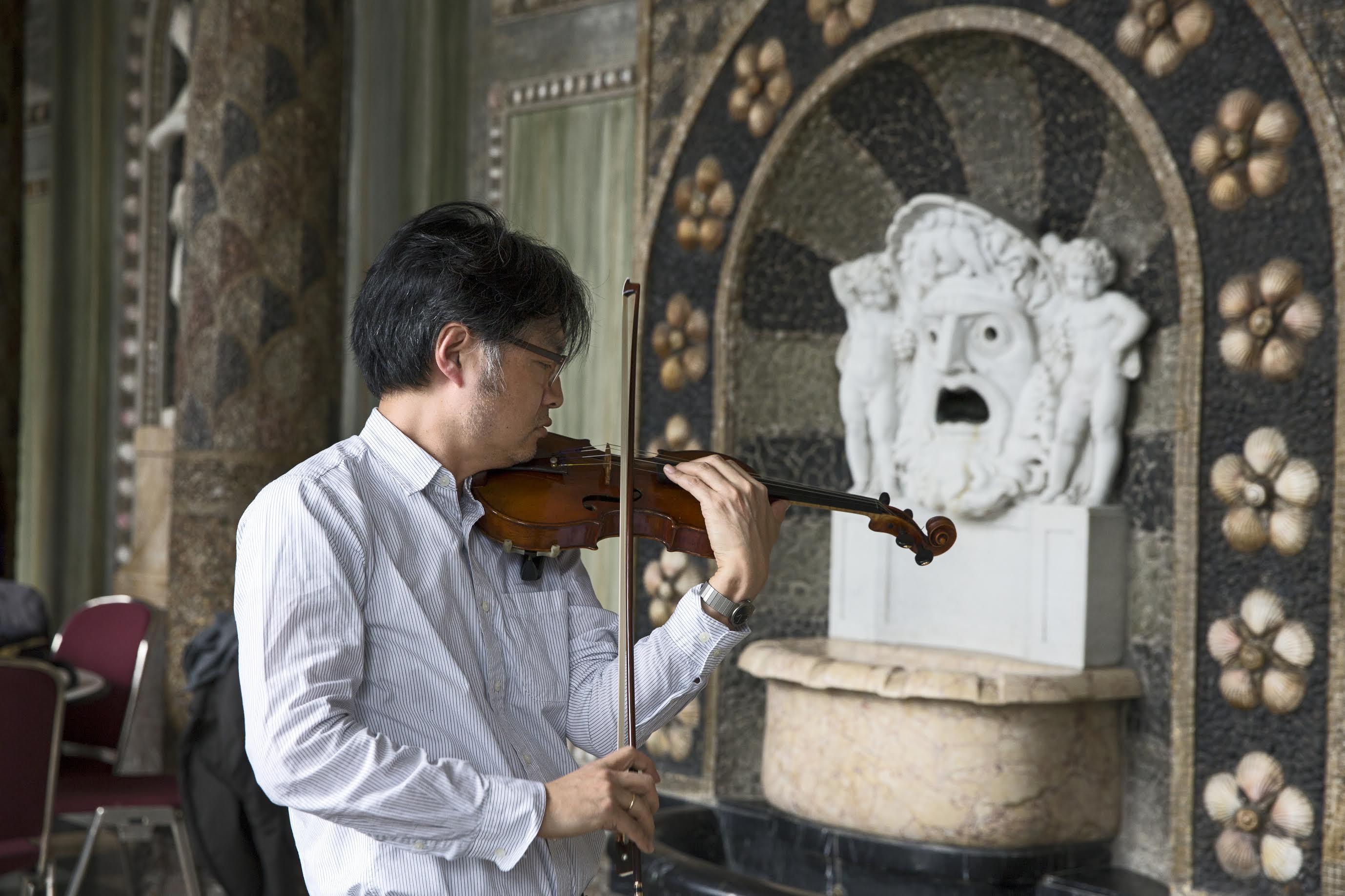 Die Deutsche Kammerphilharmonie Bremen zu Gast im Kurhaus Wiesbaden zur Aufnahme der Brahms Sinfonie 1