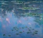 クロード・モネ《睡蓮》1906年 油彩、キャンヴァス 81.0×92.0cm 吉野石膏株式会社(山形美術館に寄託)